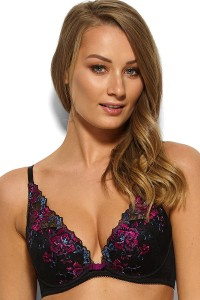 VIP Floral Attraction - Gossard - biustonosz 15011 high apex plunge  - czerń