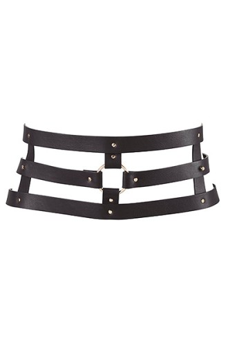 Bijoux Indiscrets - Maze - Wide Belt & Restraints - black